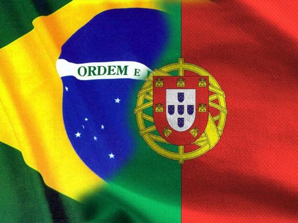 Bandeiras Brasil e Portugal
