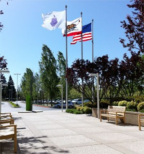 Bandeiras - EUA, Califórnia e Apple
