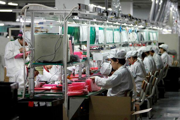 Fábrica da Foxconn de montagem do iPhone em Shenzhen na China