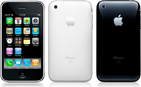 iPhone 3GS - Frente e Costas Branco e Preto