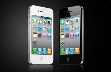 iPhone 4 - Branco e Preto - Frente