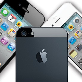 iPhone 5 fundo e iPhone 5 preto e branco frente ao fundo